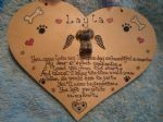Dog Cat Rabbit Guinea Pig Pet Heart Memorial Wooden Personalised Plaque Sign Handmade Unique any pet